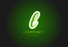 L diseño del icono del vector de la compañía del verde 3d del logotipo de la letra del alfabeto Fotos de archivo