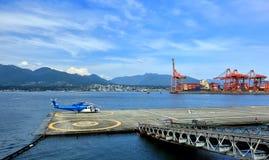 Lądowisko w Vancouver porcie Obraz Royalty Free