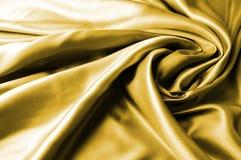 L'or drapent le satin Photographie stock libre de droits