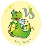 L'an du dragon, Capricorne de signe de zodiaque Image stock