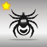 Lądzieniec ikony guzika loga czarny symbol Obraz Stock