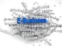 l'e-business di immagine 3d pubblica il fondo della nuvola di parola di concetto Fotografia Stock Libera da Diritti