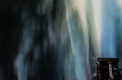 L'eau à grande vitesse de tir de moteur de catamaran Photos stock
