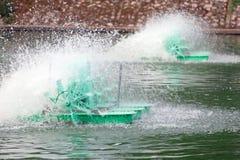 L'eau à vitesse réduite d'énergie hydraulique de moteur d'aérateur extérieur Image stock