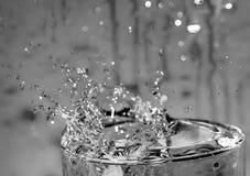 L'eau éclaboussant en glace Images libres de droits