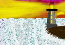 L'eau agitée image libre de droits