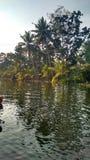 L'eau arrière du Kerala Images stock