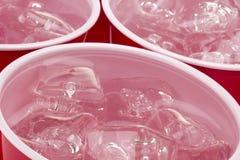 L'eau avec de la glace Images libres de droits