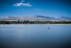 L'eau bleu ciel bleue Photographie stock