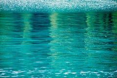 L'eau bleue de regroupement Images libres de droits
