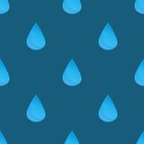 L'eau bleue de vecteur laisse tomber le modèle sans couture illustration stock