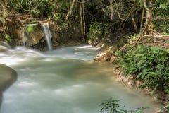 L'eau calme en Kuang Si Photos stock