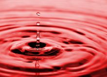 l'eau circulante de baisses image stock