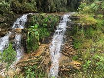 L'eau clair comme de l'eau de roche en ressorts de montagne image libre de droits