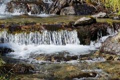 L'eau claire au-dessus des pierres Images stock