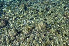 L'eau claire de la Mer Adriatique photos libres de droits