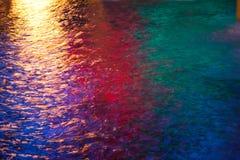 L'eau colorée Photo libre de droits