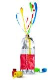 L'eau colorée de couleur de concept d'art Photos libres de droits