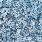 L'eau congelée sur la surface en verre Image libre de droits