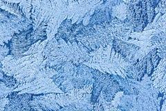 L'eau congelée sur la surface en verre Image stock
