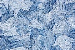 L'eau congelée sur la surface en verre Photographie stock libre de droits