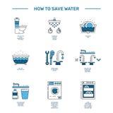 L'eau d'économie de Simbol illustration stock