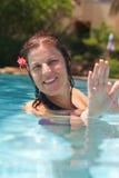 l'eau d'aérobic Photo libre de droits