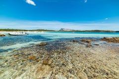 L'eau d'espace libre de Cala Brandinchi Photos stock