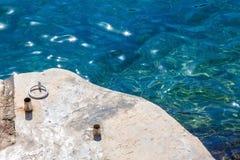L'eau d'espace libre de Cristal à Cala DÂ'or Images libres de droits