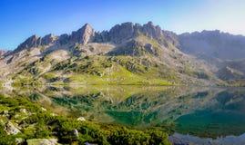 L'eau d'espace libre de Cristal dans un lac mountain Images stock