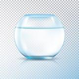 L'eau d'espace libre de cuvette de poissons transparente illustration de vecteur
