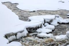L'eau d'hiver Photos libres de droits
