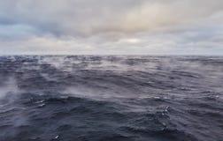 L'eau d'océan évapore rapidement quand sec froid souffle sur lui - le phénomène rare photos libres de droits
