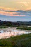 L'eau dans les dunes Photographie stock libre de droits