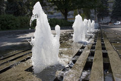 L'eau dans une fontaine Photo libre de droits