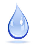 l'eau de baisse illustration libre de droits