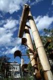 l'eau de bambou d'art Images libres de droits