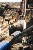 l'eau de canalisation de construction Photographie stock libre de droits
