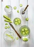 L'eau de concombre Image stock