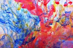 L'eau de couleur Images libres de droits