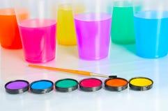 l'eau de couleur Photographie stock