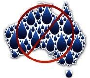 l'eau de crise de l'australie Images libres de droits