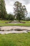 L'eau de Derbyshire de parc de Swadlincote et caractéristique de pierre Images libres de droits