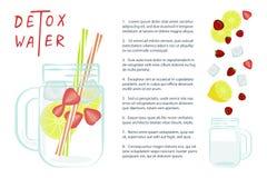 L'eau de Detox avec des fruits Images stock