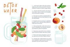 L'eau de Detox avec des fruits Photos libres de droits
