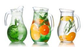 L'eau de Detox avec l'estragon Photo stock