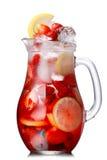 L'eau de detox de fraise Images stock