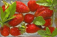 l'eau de fraise de baies Photographie stock libre de droits