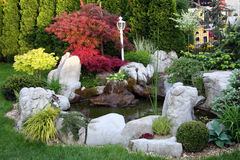 l'eau de jardin Photos libres de droits