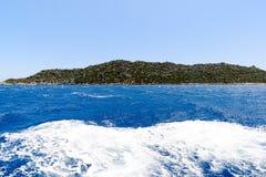 l'eau de la mer Méditerranée outre de la côte turque image stock